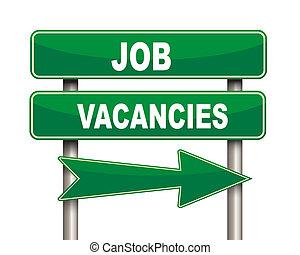 métier, vert, vacances emploi, panneaux signalisations