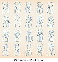 métiers, icônes
