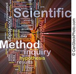 método científico, fundo, conceito, glowing