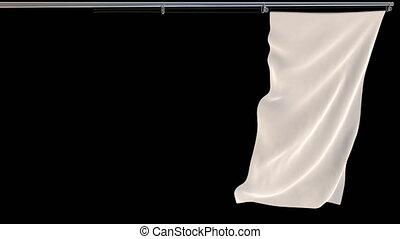 métrage, canal, vidéo, alpha, transparent, blanc, drapeau ondulant, fond, prores, vertical