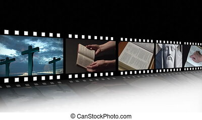 métrage, collage, religieux