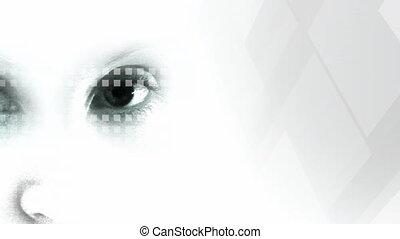 métrage, oeil, humain, stockage