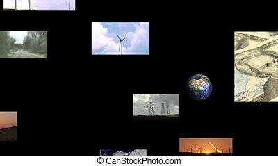 métrage, vert, énergie