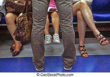 métro, cavaliers