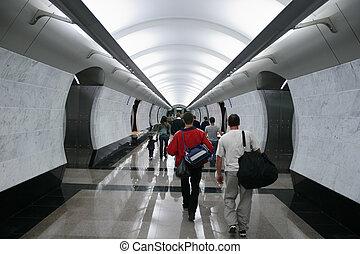 métro, foule