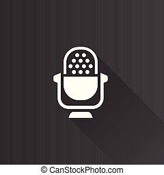 métro, icône, -, microphone