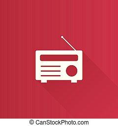 métro, icône, -, radio