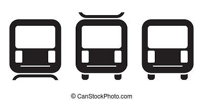 métro, icône