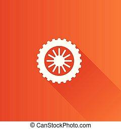 métro, -, motocyclette, pneu, icône