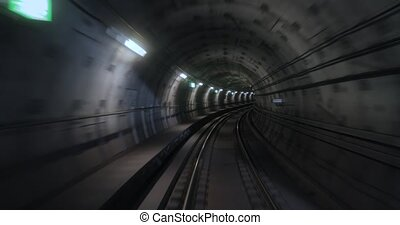 métro, vue, temps, voyage, défaillance