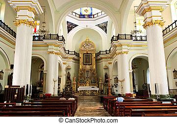méxico, interior, iglesia, vallarta, puerto, jalisco
