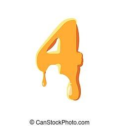 méz, 4, szám, ikon