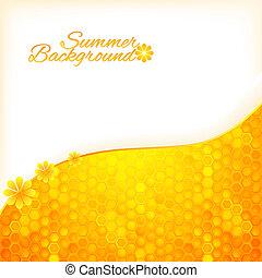 méz, nyár, elvont, háttér