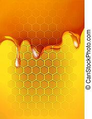 méz, olvadt