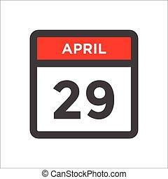 mês, dia, vermelho, ícone, calendário, pretas, w
