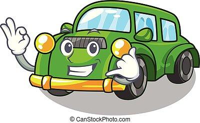 mí, coche clásico, forma, llamada, juguetes, caricatura