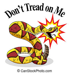 mí, dont, pisada, serpiente de cascabel