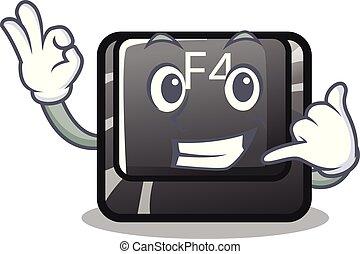mí, f4, botón, computadora, llamada, mascota