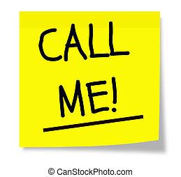 mí, nota, llamada, pegajoso
