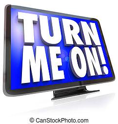 mí, televisión, televisión, reloj, vuelta, hdtv, programa, ...