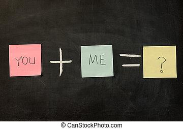 mí, usted, más