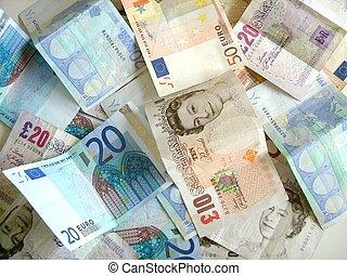 míchání, o, peníze