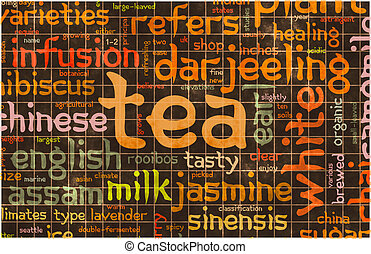 míchaný, čaj