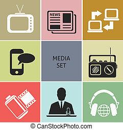 mídia, ícones