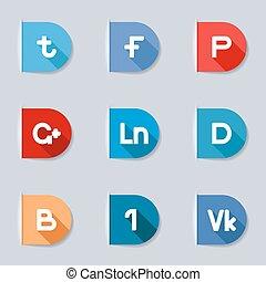 mídia, etiquetas, social