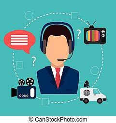 mídia, gráfico, massa, notícia