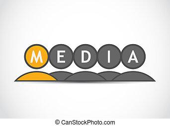 mídia, grupo, negócio