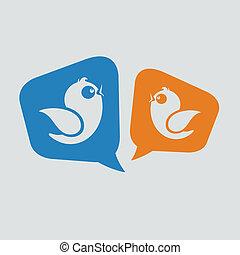 mídia, mensagens, social