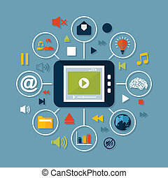 mídia, online