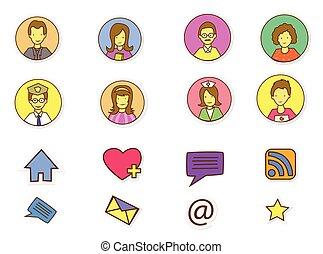 mídia, pessoas, social