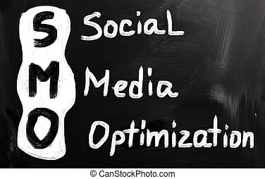 mídia, social, conceito