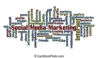 mídia, social, marketing