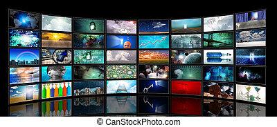 mídia, telas
