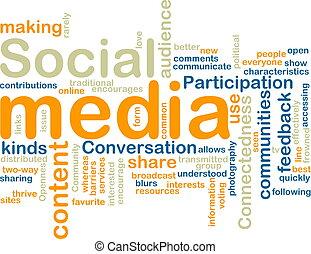 mídia, wordcloud, social