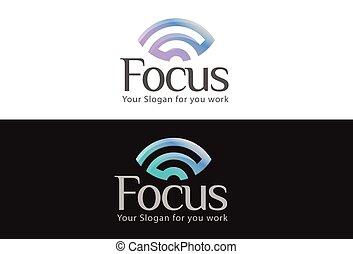místico, badges., symbols., emblema, olhar, conceito negócio, wifi, visão, logos., vetorial, desenho, ilustração, vista, logotipo, misteriosa, olho, vendo