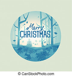 místico, natal, floresta