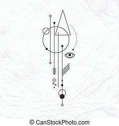 Místico, Símbolo, geomã©´ricas, abstratos