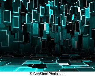 místo, cyber