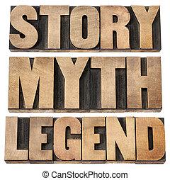 mítosz, jelmagyarázat, sztori