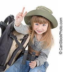 m�dchen, -, baby, tourist