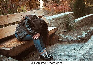 m�dchen, deprimiert