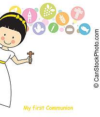 m�dchen, erstkommunion