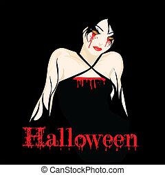 m�dchen, halloween