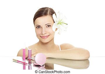 m�dchen, kosmetikartikel