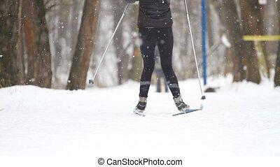 m�dchen, kreuz land skiing