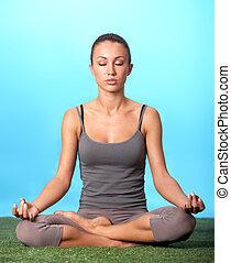 m�dchen, meditieren